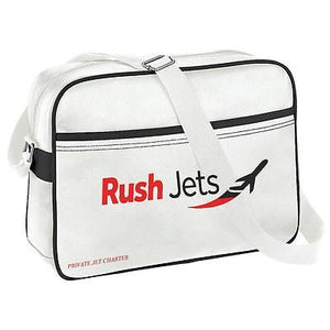 Rushjets Private jet hire  novalty Airline Messenger Bag . luggage taggs airplan -  Inflightgoods