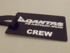 Novelty Luggage Crew Tags - Qantas, Black, The Australian Airline Crew -  Inflightgoods