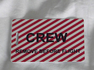 Novelty striped  remove before flight luggage tags -  Inflightgoods   - 1
