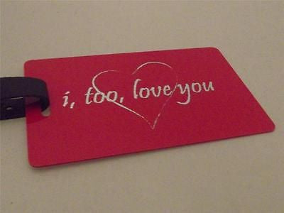 Novelty Luggage Crew Tags - I, Too, Love You -  Inflightgoods