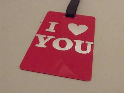 Novelty Luggage Crew Tags - I *Heart* You -  Inflightgoods