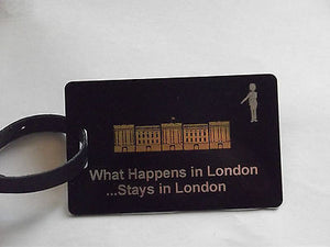 Novelty Luggage Crew Tags - WHAT HAPPENS IN LONDON STAYS .LONDON,NEW YORK,ECT -  Inflightgoods   - 1