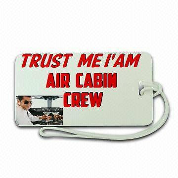 Trust me Cabin Crew  Luggage tag   Crew  ,Airplane -  Inflightgoods