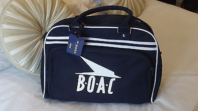 BOAC Retro novalty hand bag .NEW with luggage tags (Big logo  ) -  Inflightgoods