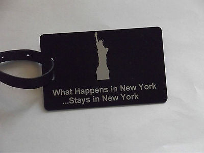 Novelty Luggage Crew Tags - WHAT HAPPENS IN LONDON STAYS .LONDON,NEW YORK,ECT -  Inflightgoods   - 4