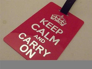 Novelty Luggage Crew Tags - Keep Calm and Carry On -  Inflightgoods