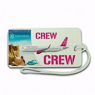 Novelty First Choice  airline  Luggage tag  Crew .airports .airline crew TYPE 3 -  Inflightgoods