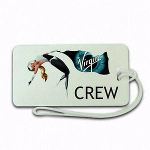 Virgin Space Crew  Luggage tag  Crew .airports .airline crew