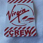Novelty  Virgin Trains   luggage tags FIRST CLASS < CREW -  Inflightgoods   - 1
