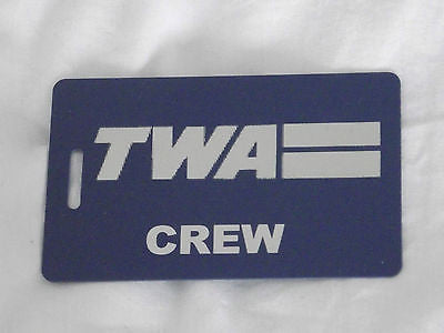 Novelty  TWA  luggage tags FIRST CLASS < CREW -  Inflightgoods   - 5