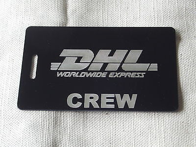 Novelty Luggage Crew Tags - DHL CREW -  Inflightgoods   - 2