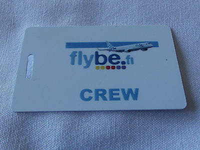 Novelty  FLYBE.com  luggage tags FIRST CLASS < CREW -  Inflightgoods   - 6