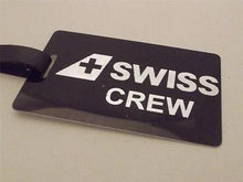 Novelty Luggage Crew Tags - Black, Swiss Crew (Style 3)