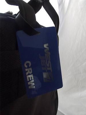 Novelty Luggage Crew Tags - Blue, West Jet, Crew -  Inflightgoods