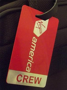 Novelty Luggage Crew Tags - Virgin America Crew -  Inflightgoods