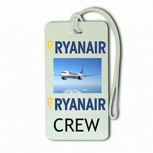 Ryan Air T 6 Crew Lugage Tag Airports,in pilots.Cabin Crew -  Inflightgoods