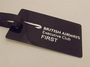 Novelty Luggage Crew Tags - British Airways Executive Club Black/Silver -  Inflightgoods