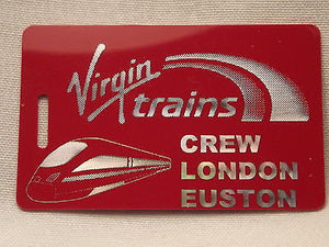 Novelty  Virgin Trains   luggage tags FIRST CLASS < CREW -  Inflightgoods   - 6