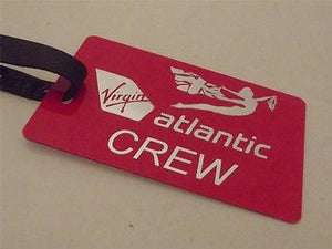 Novelty Luggage Crew Tags - Virgin Atlantic Crew, Silver, Style 2 -  Inflightgoods