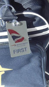 NOVALTY LUGGAGE TAG BRITISH AIRWAYS Airline  SILVER Airplane -  Inflightgoods