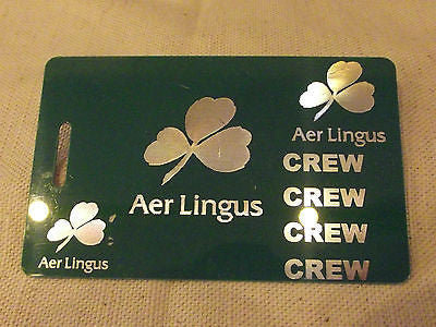 Novelty Luggage Crew Tags  AIR LINGUS  Various Colours -  Inflightgoods   - 2