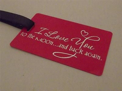 Novelty Luggage Crew Tags - I Love You To The Moon ... and Back Again -  Inflightgoods