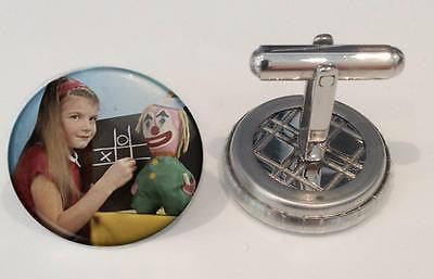 RetroCo BBC Test Card Television : IN COLOUR! Cufflinks -  Inflightgoods