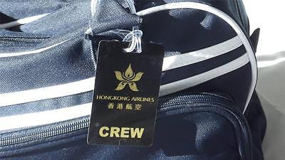 NOVALTY LUGGAGE TAG HONG KONG  CREW BLK GOLD Airplane -  Inflightgoods