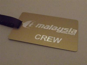 Novelty Luggage Crew Tags - Malaysia Airlines Crew -  Inflightgoods