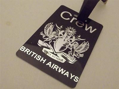 Novelty Luggage Crew Tags - British Airways Black/Silver -  Inflightgoods