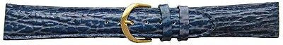 Shark Grian Calf Leather Padded Watch Blue Strap 18mm G/P Buckle -  Inflightgoods