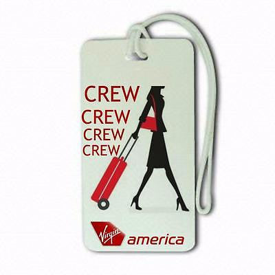 Virgin Airlines   Luggage tag  Crew .airports .airline crew -  Inflightgoods