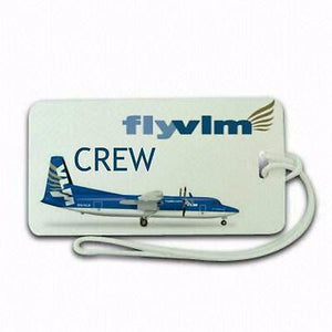 VLM Airline Fokker  50  e1Tag Airports,in pilots.Cabin Crew LUGGAGE  TAG -  Inflightgoods