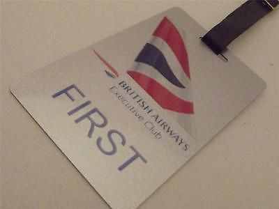 Novelty Luggage Crew Tags - British Airways First, Silver (Style 2) -  Inflightgoods