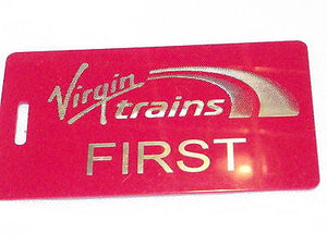 Novelty  Virgin Trains   luggage tags FIRST CLASS < CREW -  Inflightgoods   - 7