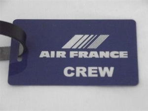 Novelty Luggage Crew Tags - Blue, Air France  ( CREW & 1ST CLASS) -  Inflightgoods   - 1