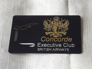 Novelty Luggage Crew Tags - CONCORDE EXECUTIVE CLUB -  Inflightgoods   - 3