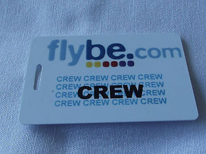 Novelty  FLYBE.com  luggage tags FIRST CLASS < CREW -  Inflightgoods   - 2