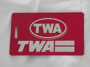 Novelty  TWA  luggage tags FIRST CLASS < CREW -  Inflightgoods   - 6