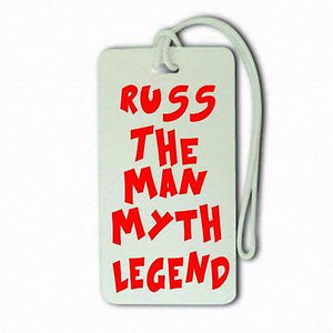 The man myth legendName Custom Funny  LuggageCabin Crew LUGGAGE  TAG