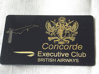 Novelty Luggage Crew Tags - CONCORDE EXECUTIVE CLUB -  Inflightgoods   - 1