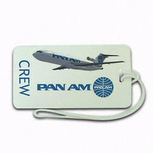Pan Am Airways  Luggage tag  Crew .airports .airline crew