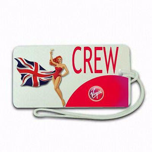 Novalty virgin  Crew  Luggage tag  Crew .airports .airline crew -  Inflightgoods
