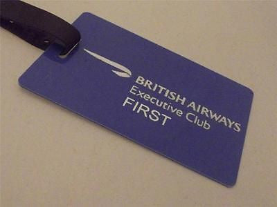 Novelty Luggage Crew Tags - British Airways Executive Club, Blue/Silver -  Inflightgoods