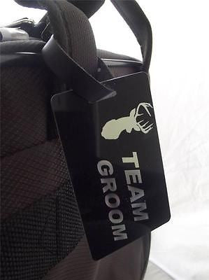 Novelty Luggage Crew Tags - Team Groom (Stag Head) -  Inflightgoods