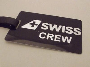 Novelty Luggage Crew Tags - Black, Swiss Crew (Style 3) -  Inflightgoods