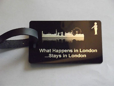 Novelty Luggage Crew Tags - WHAT HAPPENS IN LONDON STAYS .LONDON,NEW YORK,ECT -  Inflightgoods   - 5