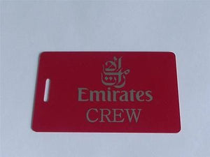Novelty CREW LUGGAGE Tagg  EMIRATES CREW  SILVER /RED LOGOS -  Inflightgoods   - 1