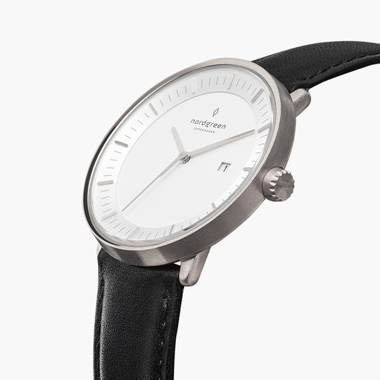 Philosopher - BUNDLE White Dial Silver | Silver 5-Link / Black / Brown Leather Strap