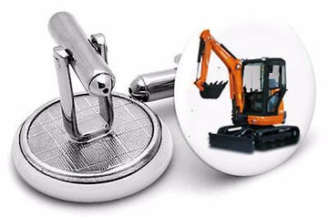 Super Excavator Digger Novelty Cufflinks type  2